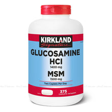 Load image into Gallery viewer, Kirkland Signature Glucosamine HCI With MSM Vitamin Supplement Pack 375 Caps