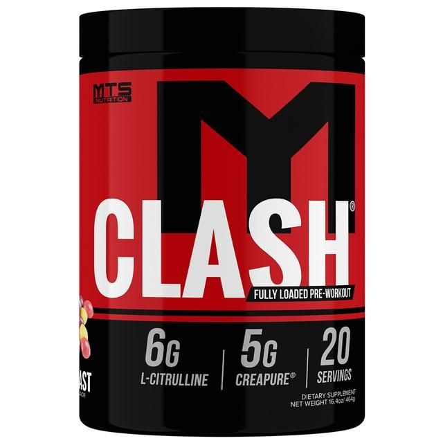 MTS Nutrition Clash Fully Loaded Pre Workout Sachets 20 Servings