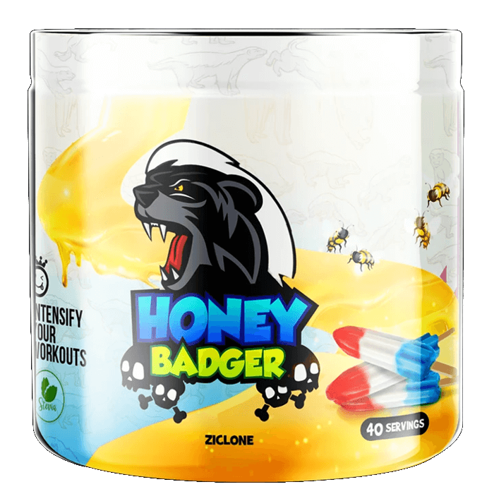 Yummy Sports Honey Badger Pre Workout 40 Servings, 300g