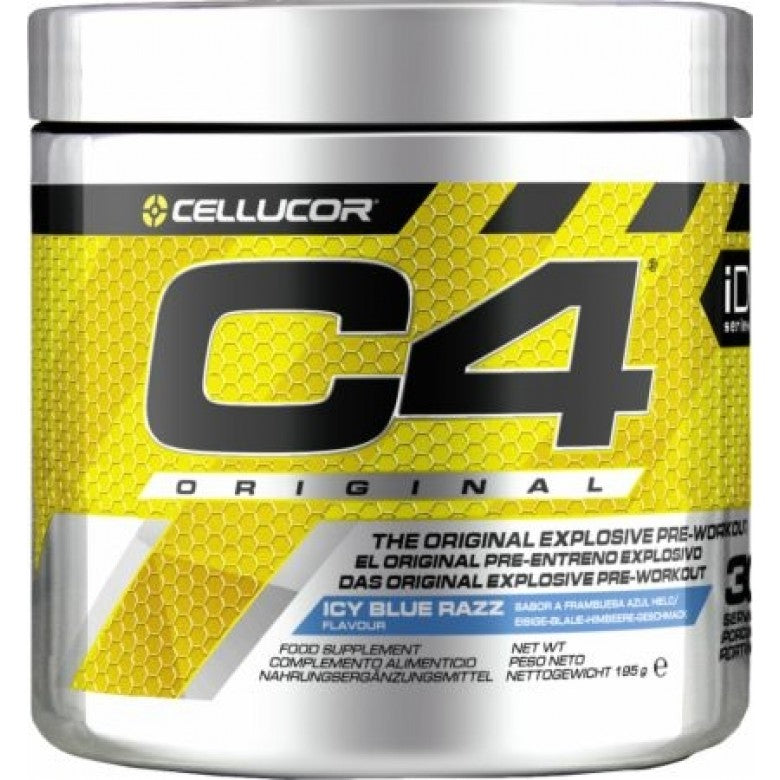 Cellucor C4 Pre-Workout Icy Blue Raspberry (1x195g or 2x195g)