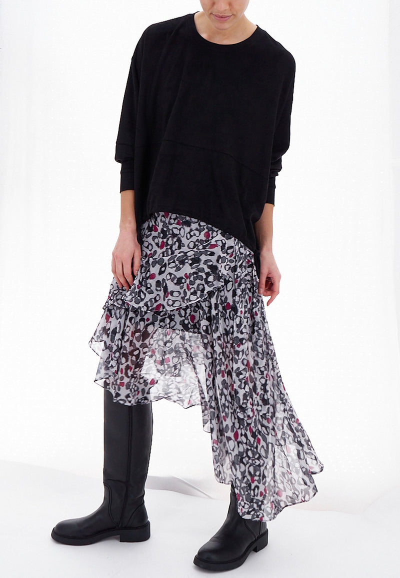STAGE MIDI SKIRT CHASE PRINT