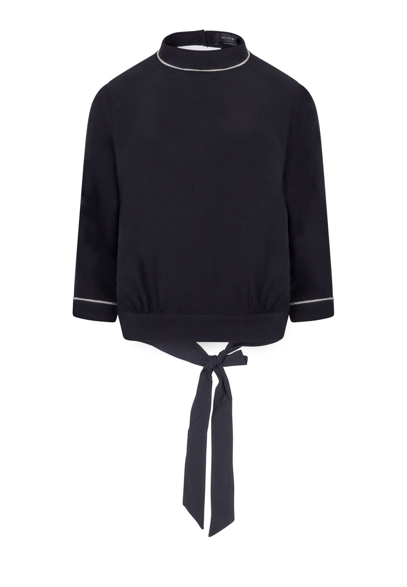 RELIGION Centre High Neck Black Top