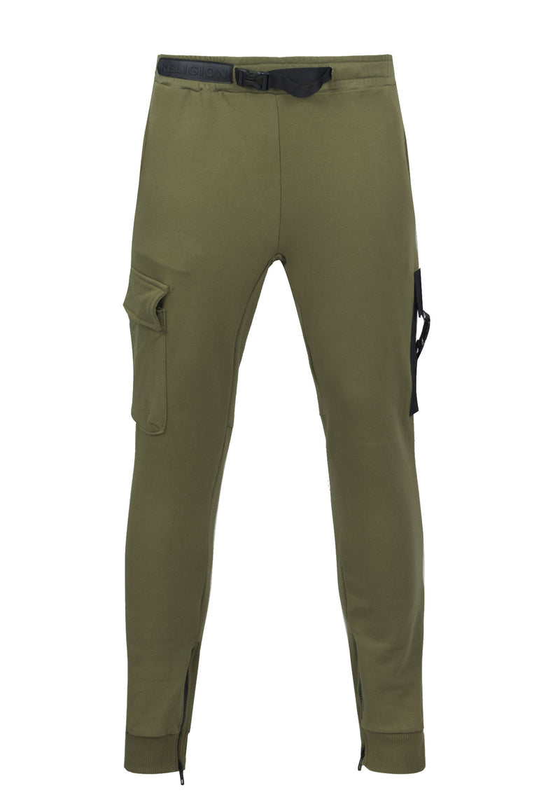 RELIGION Snatch Skinny Fit Dark Olive Pants