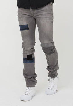 RELIGION Slim Fit Cure Jeans with Patches