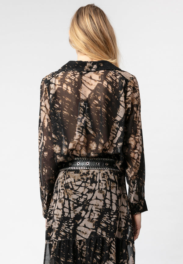 RELIGION Marble Shirt All Over Hide Print