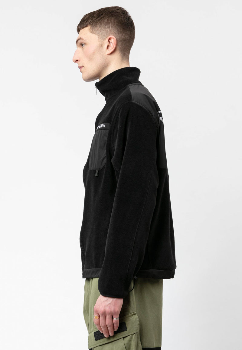 RELIGION Fabian Black Poly Fleece Jacket