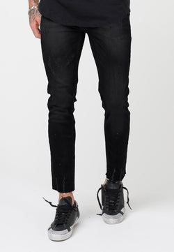 RELIGION Berlin Skinny Jeans Washed Black