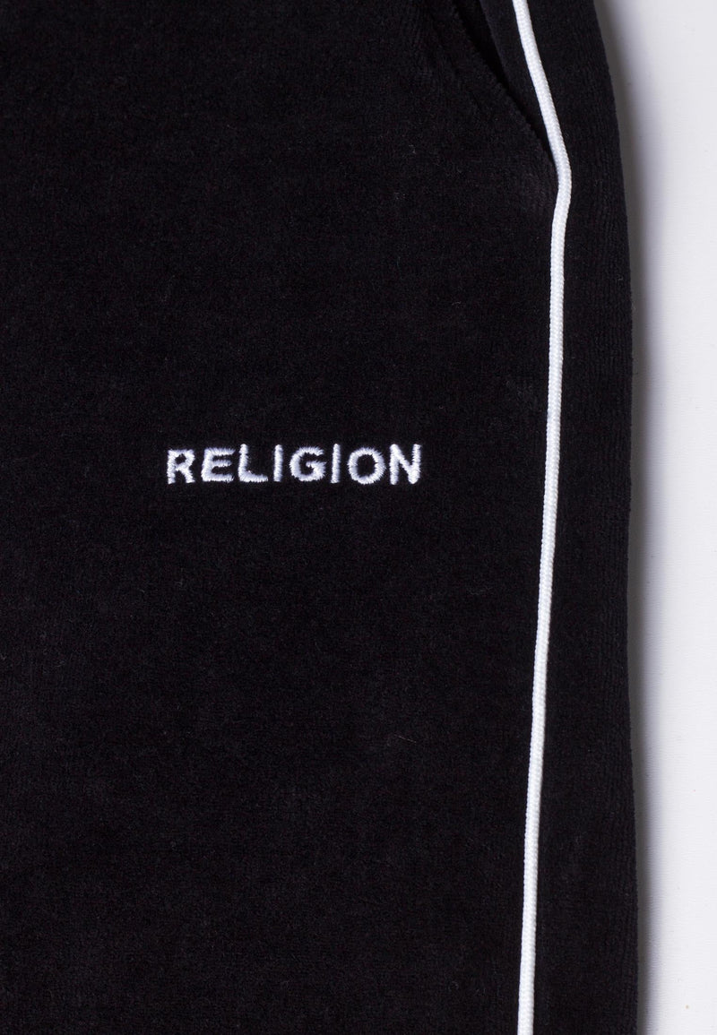 RELIGION Content Track Wide Leg Black Trousers Laura Barros