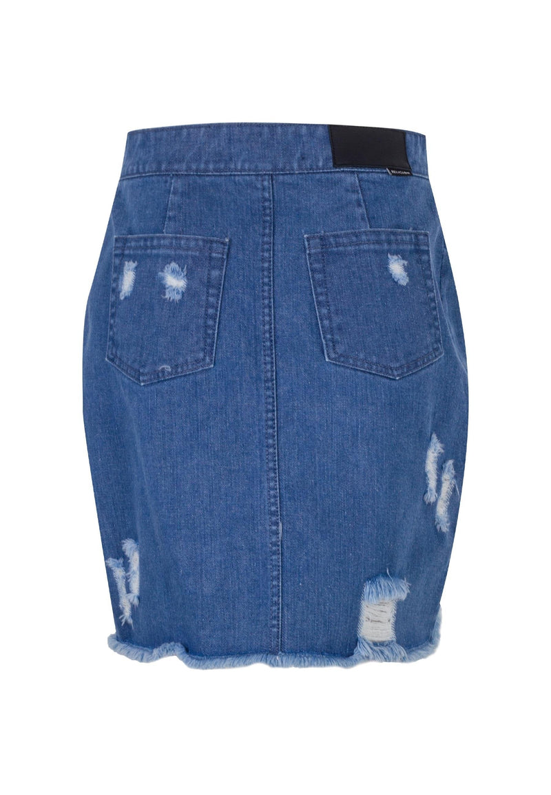 RELIGION Mini Aquarius Skirt Indigo Wash