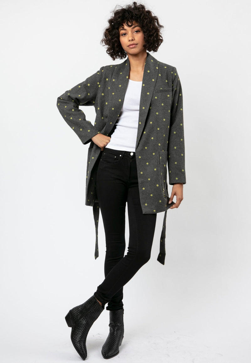RELIGION Dusk Relaxed Fit Charcoal Jacket
