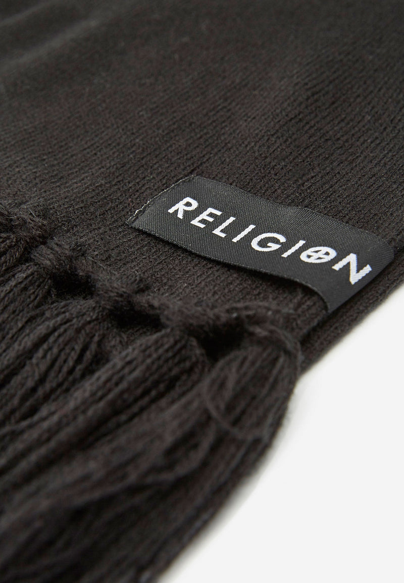 RELIGION Praying Skeleton Lisha Scarf Black