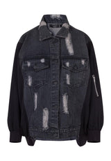 RELIGION Capricorn Oversized Denim Jacket