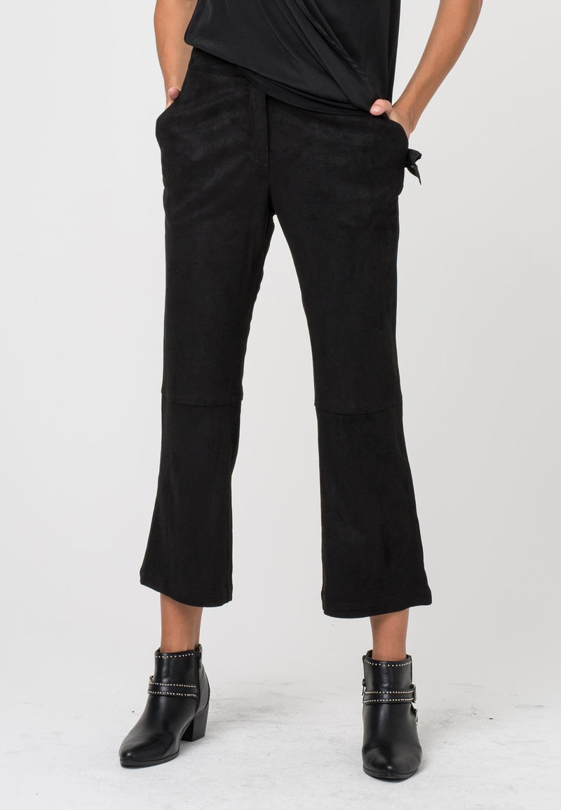 RELIGION Aura Trousers Black Suede