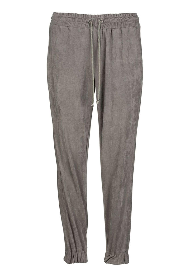 RELIGION Ethos Trousers Grey Faux Suede