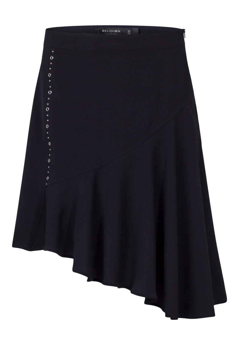RELIGION Absolute Black Mini Skirt