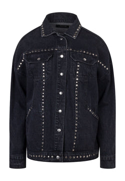 RELIGION Motive Denim Jacket Washed Black