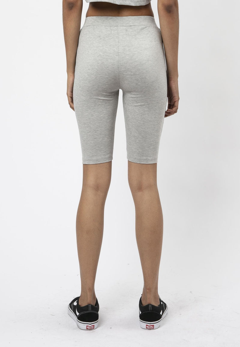 RELIGION Tranquil Cropped Grey Cycling Shorts