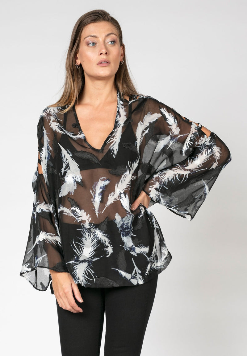 RELIGION Prestige Top Light Print
