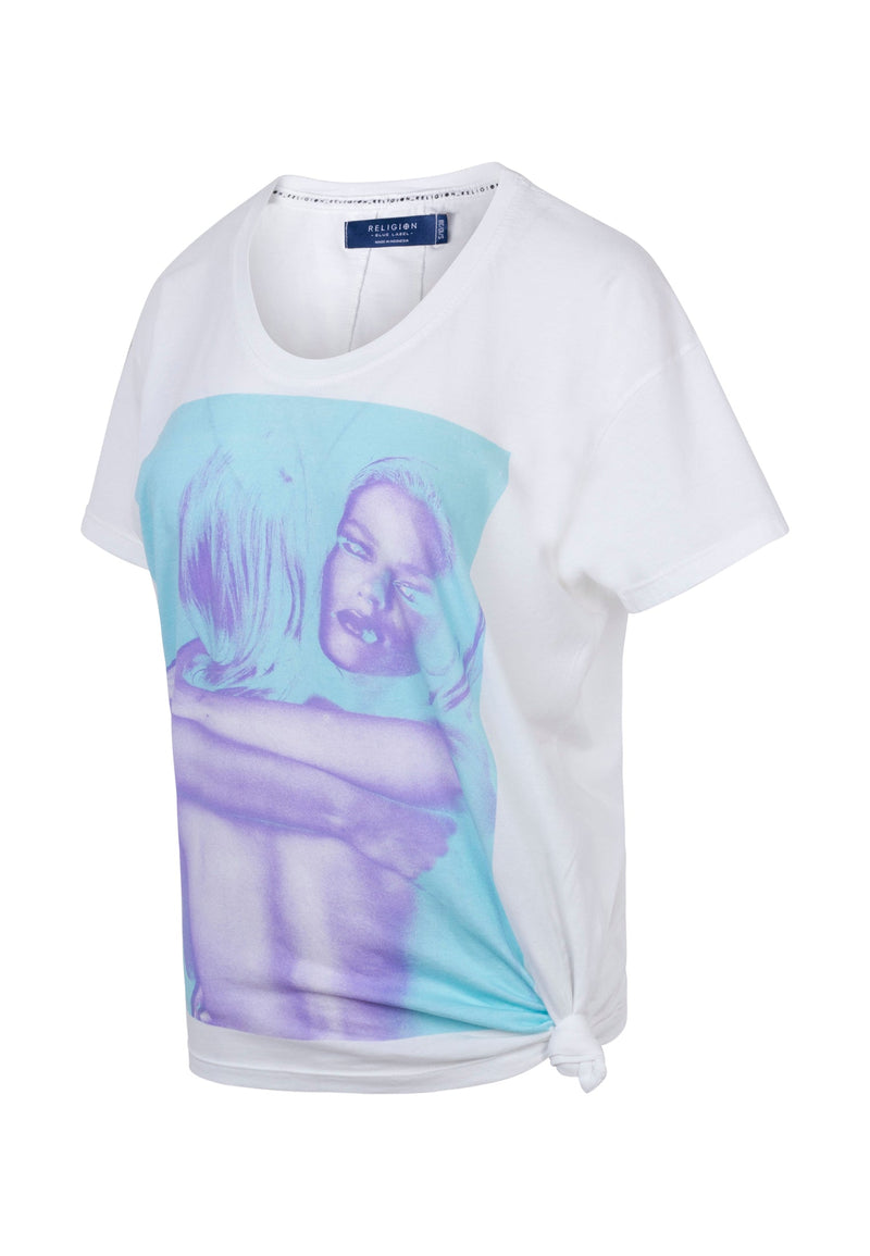 RELIGION Embracing Girl Graphic Print T-Shirt