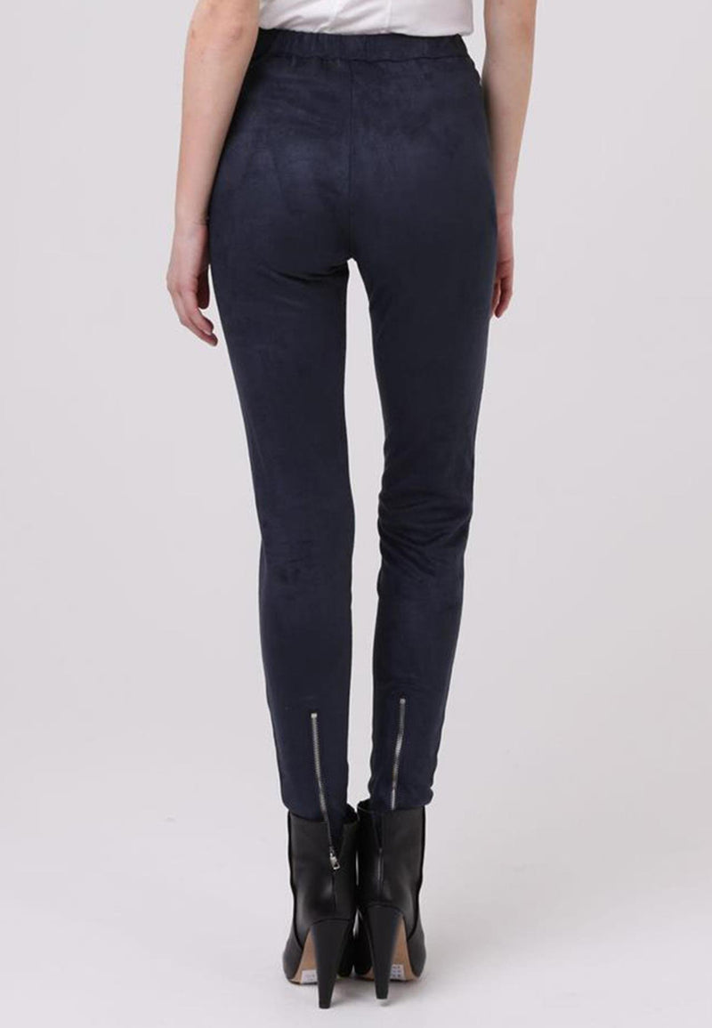RELIGION Copper Leggings Denim Faux Suede