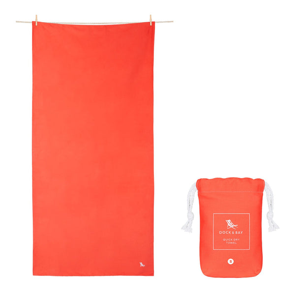 microfiber travel towels red