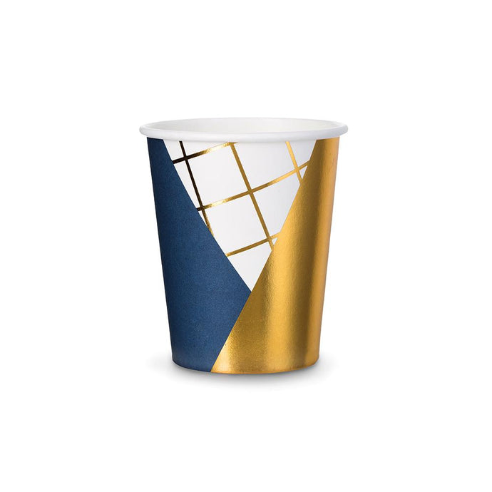 Navy Blue & White Paper Cup (Each)