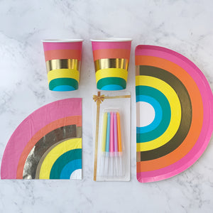 Rainbow Party for 2 & Candles