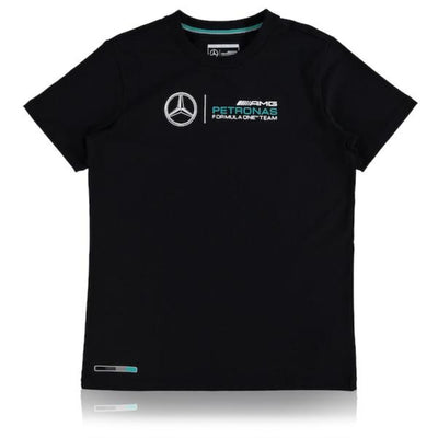 Mercedes AMG Petronas Motorsport Large Logo T-shirt -KIDS - Black