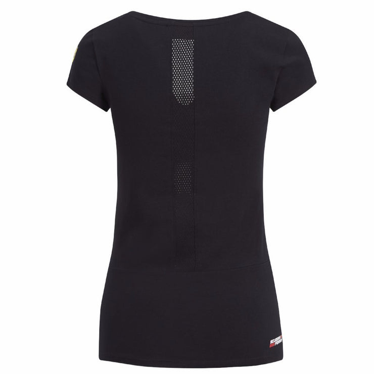 SCUDERIA FERRARI WOMEN'S RACE T-SHIRT- BLACK