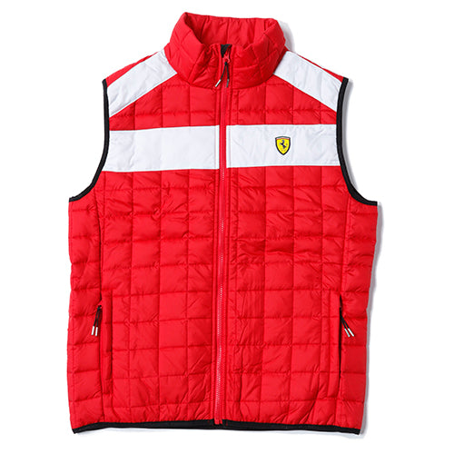 Scuderia Ferrari Padded Bodywarmer Sleeveless Vest - Men - Red