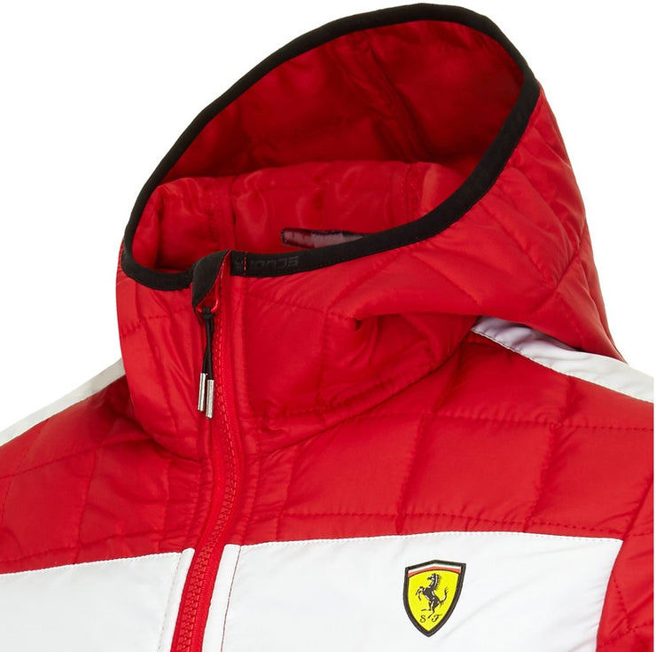 Scuderia Ferrari Packable Padded Quilted Jacket - Women - Red