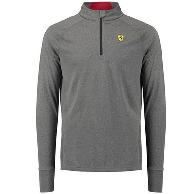 Scuderia Ferrari Half Zipped Midlayer Shirt - Men - Grey - FanaBox
