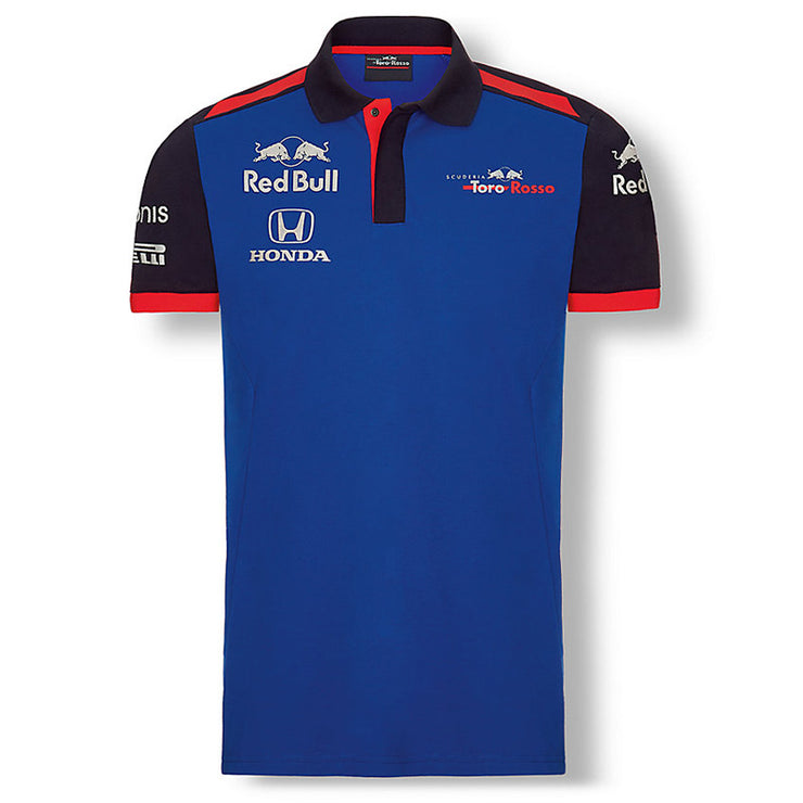 Scuderia Toro Rosso Teamline Functional Polo - Men - Blue - FanaBox