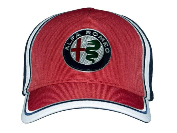 2019 Alfa Romeo Racing F1® Team Logo Curved Cap - Men - Red - FanaBox