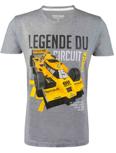 2019 Renault F1® Team Legend of the Circuit T-shirt - Men - Grey - FanaBox