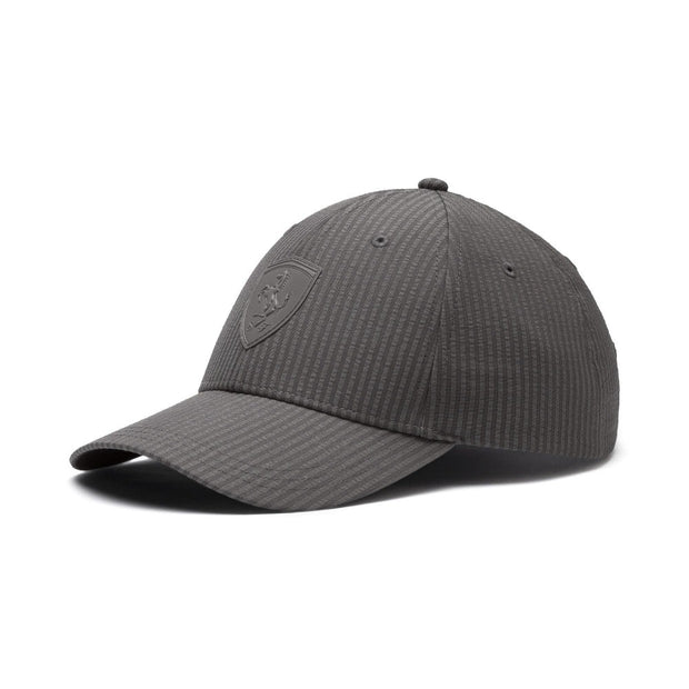 2019 Puma Scuderia Ferrari Striped LS Baseball Cap - Men - Grey - FanaBox