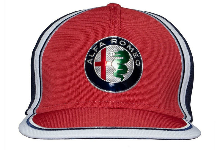 Alfa Romeo Racing Formula 1 Flat Brim Team Cap Men Red