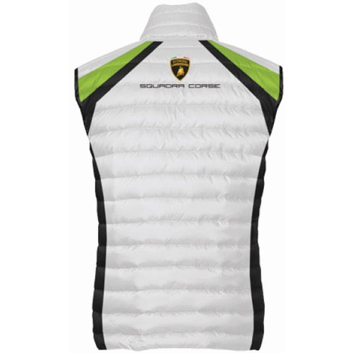 Lamborghini Squadra Corse Padded Vest - Men - White - FanaBox