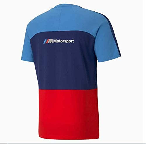 Puma BMW Motorsport MMS T7 T-shirt - Men - Marina Blueprint and High Risk Red