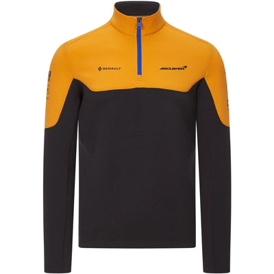 McLaren Racing F1™ Team 1/4 ZIP Sweatshirt - Men - Black & Papaya Orange