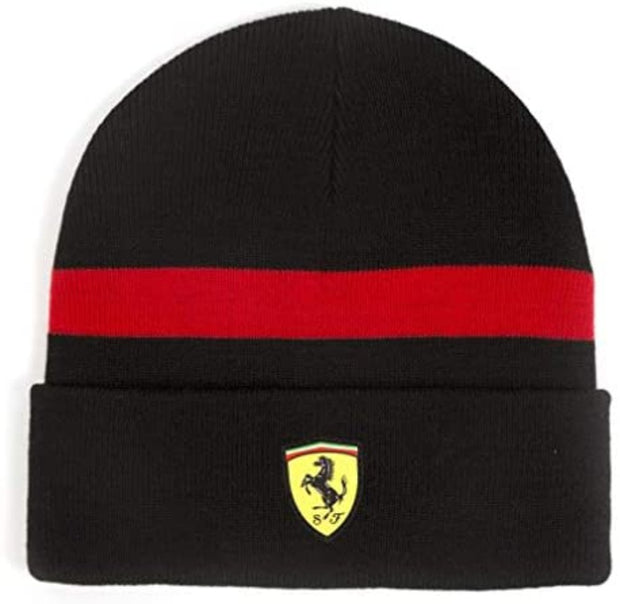Scuderia Ferrari Formula 1 Black Knitted Beanie - Men - Black