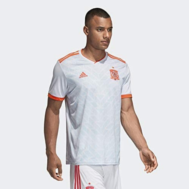 Adidas FC Spain Away Replica Jersey - Men - Halo Blue and Bright Red