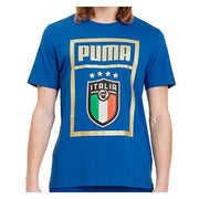 FIGC Puma Italia Soccer Team T-shirt - Men - Blue