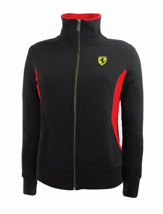 Scuderia Ferrari Full Zip Sweatshirt - Women - Black
