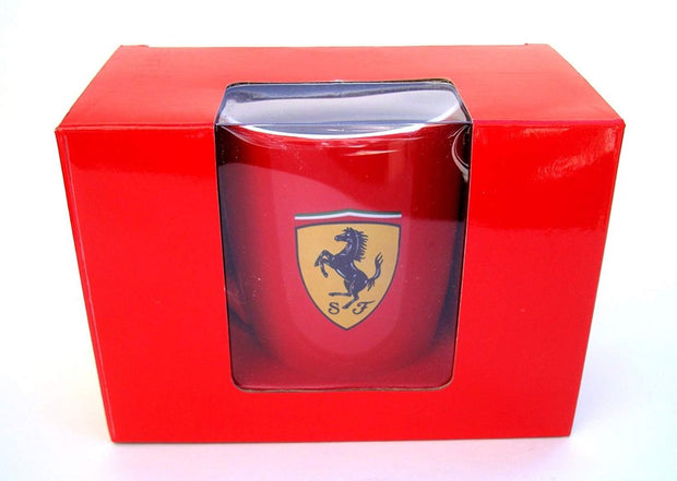Scuderia Ferrari Logo Shield Coffee Mug - Accessories - Red and White