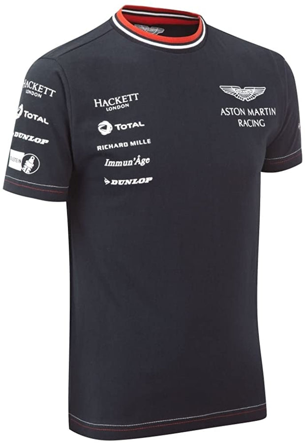 Aston Martin Racing Sponsor T-Shirt - Kids - Navy Blue