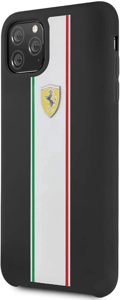 SUDERIA FERRARI IPHONE CASE - BLACK WITH ITALY FLAG