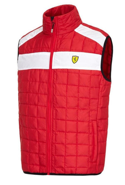 Scuderia Ferrari Padded Bodywarmer - Men - Red - FanaBox