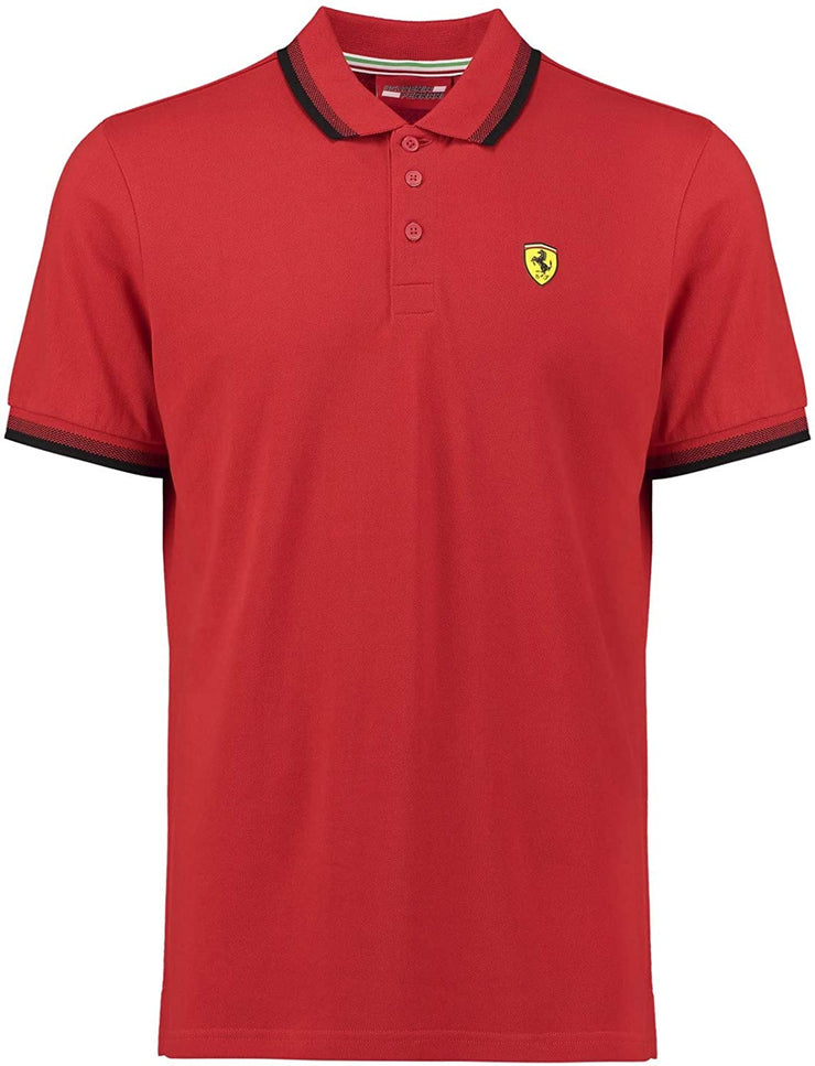Scuderia Ferrari Collar Polo - Men - Red