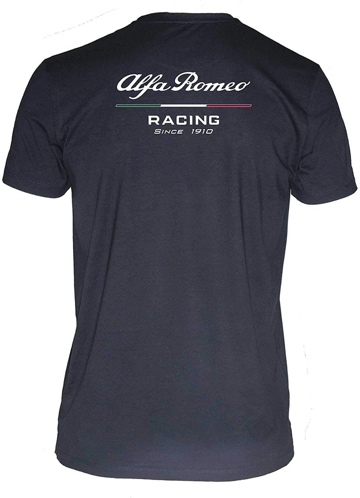 Alfa Romeo Racing Front Logo T-Shirt - Men - Blue
